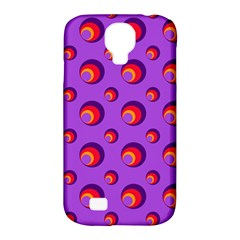 Scatter Shapes Large Circle Red Orange Yellow Circles Bright Samsung Galaxy S4 Classic Hardshell Case (PC+Silicone)