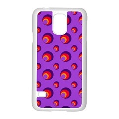 Scatter Shapes Large Circle Red Orange Yellow Circles Bright Samsung Galaxy S5 Case (White)