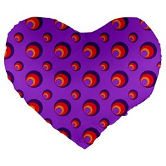 Scatter Shapes Large Circle Red Orange Yellow Circles Bright Large 19  Premium Flano Heart Shape Cushions