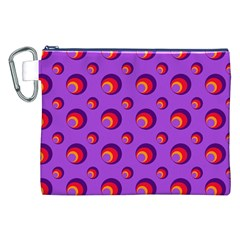Scatter Shapes Large Circle Red Orange Yellow Circles Bright Canvas Cosmetic Bag (XXL)