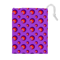 Scatter Shapes Large Circle Red Orange Yellow Circles Bright Drawstring Pouches (extra Large)