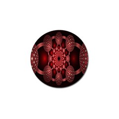 Lines Circles Red Shadow Golf Ball Marker