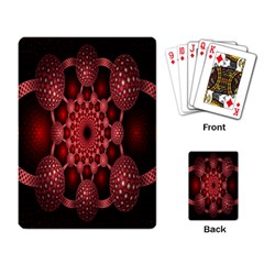 Lines Circles Red Shadow Playing Card