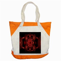 Lines Circles Red Shadow Accent Tote Bag