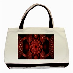 Lines Circles Red Shadow Basic Tote Bag (Two Sides)
