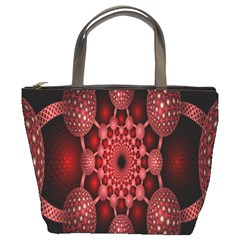 Lines Circles Red Shadow Bucket Bags