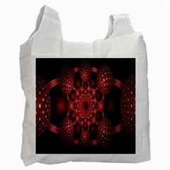 Lines Circles Red Shadow Recycle Bag (Two Side)