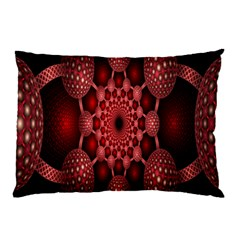 Lines Circles Red Shadow Pillow Case (Two Sides)