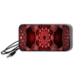 Lines Circles Red Shadow Portable Speaker (Black)
