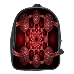 Lines Circles Red Shadow School Bags (xl)