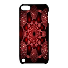 Lines Circles Red Shadow Apple iPod Touch 5 Hardshell Case with Stand