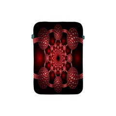Lines Circles Red Shadow Apple iPad Mini Protective Soft Cases