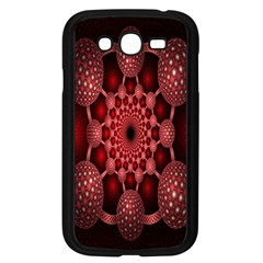 Lines Circles Red Shadow Samsung Galaxy Grand DUOS I9082 Case (Black)