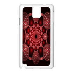 Lines Circles Red Shadow Samsung Galaxy Note 3 N9005 Case (White)