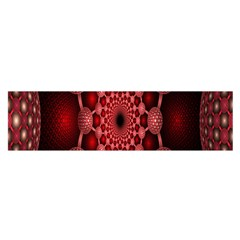 Lines Circles Red Shadow Satin Scarf (Oblong)
