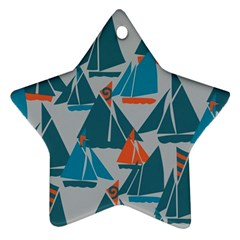 Ship Sea Blue Ornament (Star)