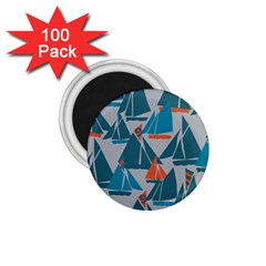 Ship Sea Blue 1.75  Magnets (100 pack)