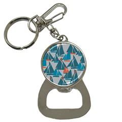 Ship Sea Blue Button Necklaces