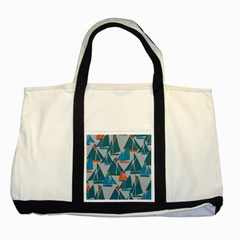Ship Sea Blue Two Tone Tote Bag