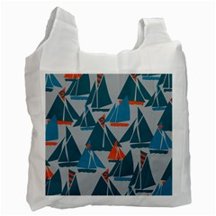 Ship Sea Blue Recycle Bag (Two Side)