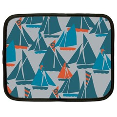 Ship Sea Blue Netbook Case (XL)