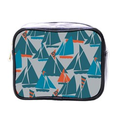 Ship Sea Blue Mini Toiletries Bags