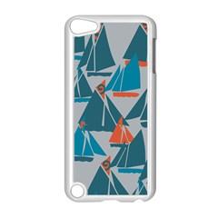 Ship Sea Blue Apple iPod Touch 5 Case (White)