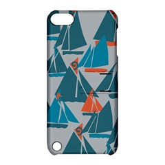 Ship Sea Blue Apple iPod Touch 5 Hardshell Case with Stand
