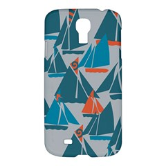 Ship Sea Blue Samsung Galaxy S4 I9500/I9505 Hardshell Case