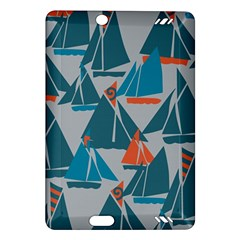 Ship Sea Blue Amazon Kindle Fire HD (2013) Hardshell Case