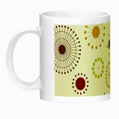 Seamless Floral Flower Orange Red Green Blue Circle Night Luminous Mugs
