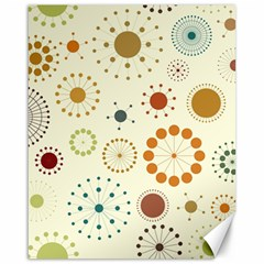 Seamless Floral Flower Orange Red Green Blue Circle Canvas 16  x 20