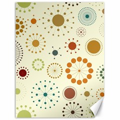 Seamless Floral Flower Orange Red Green Blue Circle Canvas 18  x 24
