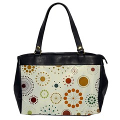 Seamless Floral Flower Orange Red Green Blue Circle Office Handbags