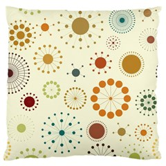 Seamless Floral Flower Orange Red Green Blue Circle Large Cushion Case (Two Sides)