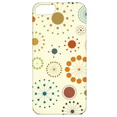 Seamless Floral Flower Orange Red Green Blue Circle Apple Iphone 5 Classic Hardshell Case