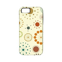 Seamless Floral Flower Orange Red Green Blue Circle Apple iPhone 5 Classic Hardshell Case (PC+Silicone)