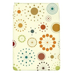 Seamless Floral Flower Orange Red Green Blue Circle Flap Covers (S)