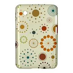 Seamless Floral Flower Orange Red Green Blue Circle Samsung Galaxy Tab 2 (7 ) P3100 Hardshell Case