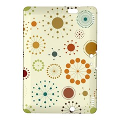 Seamless Floral Flower Orange Red Green Blue Circle Kindle Fire HDX 8.9  Hardshell Case