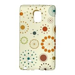 Seamless Floral Flower Orange Red Green Blue Circle Galaxy Note Edge