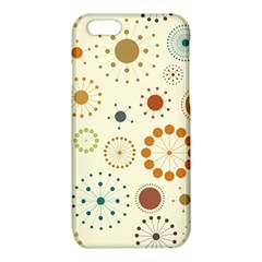 Seamless Floral Flower Orange Red Green Blue Circle iPhone 6/6S TPU Case