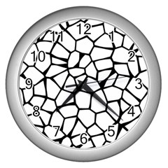 Seamless Cobblestone Texture Specular Opengameart Black White Wall Clocks (Silver)