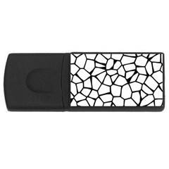 Seamless Cobblestone Texture Specular Opengameart Black White USB Flash Drive Rectangular (2 GB)