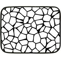 Seamless Cobblestone Texture Specular Opengameart Black White Fleece Blanket (Mini)