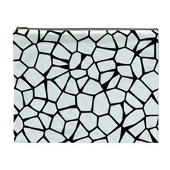 Seamless Cobblestone Texture Specular Opengameart Black White Cosmetic Bag (XL)