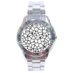 Seamless Cobblestone Texture Specular Opengameart Black White Stainless Steel Analogue Watch