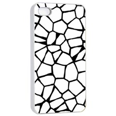 Seamless Cobblestone Texture Specular Opengameart Black White Apple iPhone 4/4s Seamless Case (White)