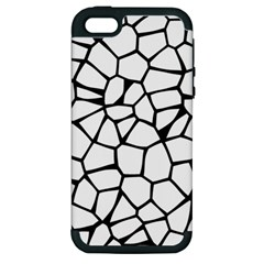 Seamless Cobblestone Texture Specular Opengameart Black White Apple iPhone 5 Hardshell Case (PC+Silicone)