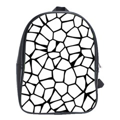 Seamless Cobblestone Texture Specular Opengameart Black White School Bags (XL)